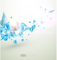 Abstract summer background with blue diamonds vector
