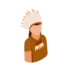 American indian isometric 3d icon vector