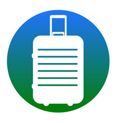 baggage sign white icon in vector image