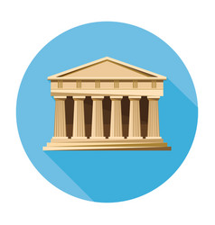Bank courthouse parthenon architecture icon vector