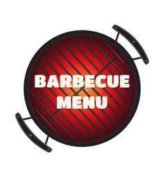 barbecue pan bbq menu party banner flat style vector image vector image