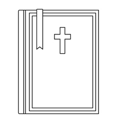 Bible icon outline style vector image vector image