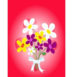 Bouquet of flowers card vector