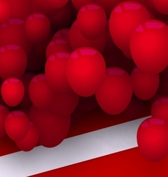 Bright Card with Red Balloons for Your Holiday vector image vector image