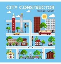 City constructor design elements vector