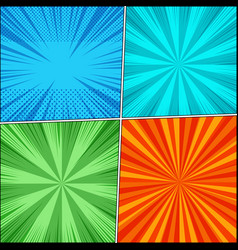 comic book page backgrounds set vector image
