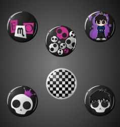 Emo badges vector