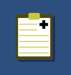 Flat icon design collection medical board in vector