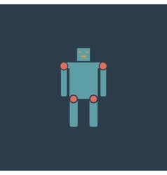 Funny robot flat icon vector image vector image