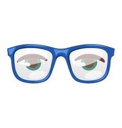 Glasses human eye vector image vector image
