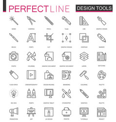graphic design program tools icon palettes thin vector image