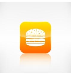 Hamburger web icon application button vector