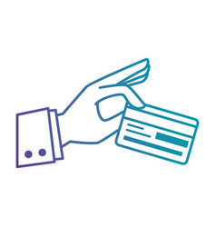 hand with credit card vector image