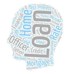 Home mortgage loan mistakes most homebuyers make vector