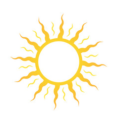 icon or logo sun for sun deck or cosmetics for vector image vector image
