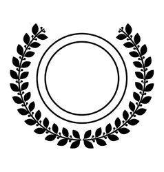 Isolated seal stamp inside wreath design vector