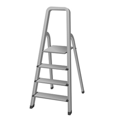 Isolated Step ladder vector image vector image