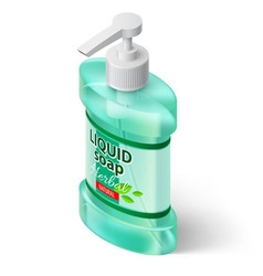 Liquid soap isometric vector image vector image