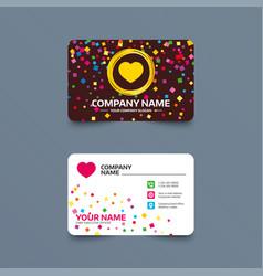 love icon heart sign symbol vector image