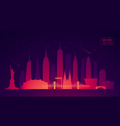 new york skyline building city vector image vector image