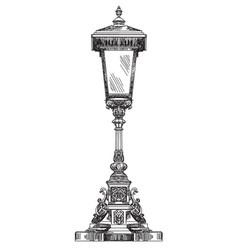 Old street lantern vector
