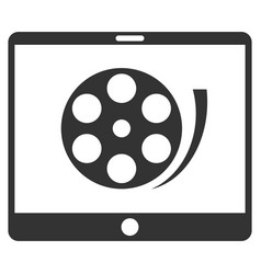 Phone video reel flat icon vector