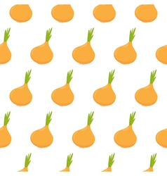 Seamless pattern with onion vector image vector image