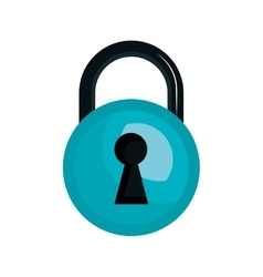 Security lock with keyhole vector