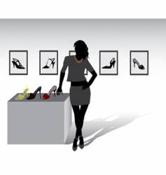 shoes shop vector image vector image