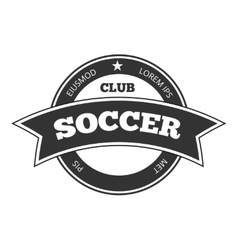 soccer logo badge template isolated in vector image vector image