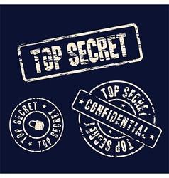 Top secret stamp set vector
