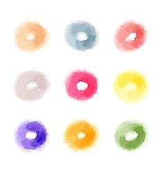 watercolor abstract donuts shaped dots of vector image