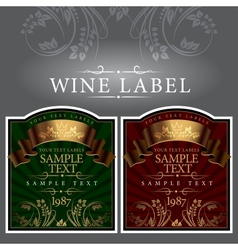 Wine label with a gold ribbon vector