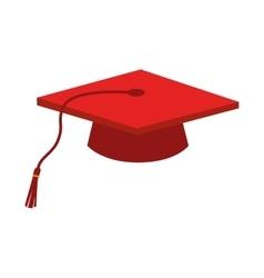 cap graduation education ceremony isolated vector image