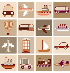 Travel and transport vector
