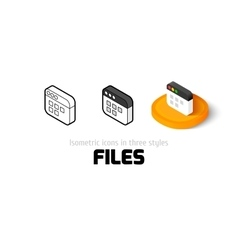 Files icon in different style vector