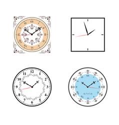 Clock clock icon set vector