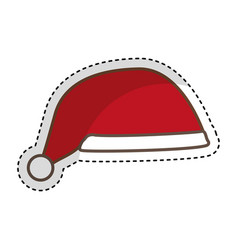Christmas hat isolated icon vector