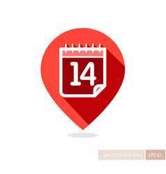 14 february valentine day pin map icon vector