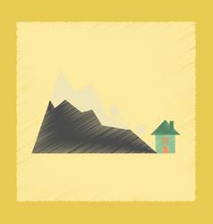 flat shading style icon house avalanche vector image