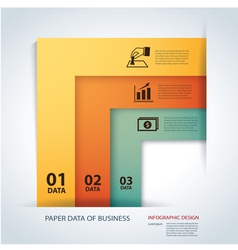 business step paper lines and numbers template vector image
