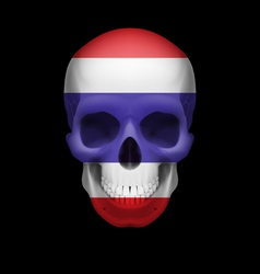 Thai flag skull vector