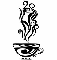 elegant cup vector image