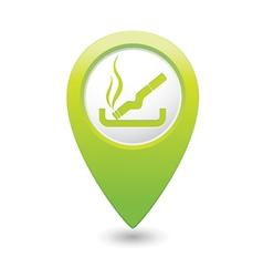 Smoking green map pointer vector