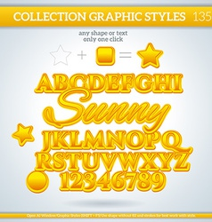Sunny graphic style for design vector