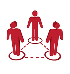 People connect icons vector