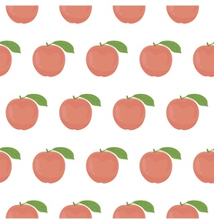 Seamless pattern with peaches vector