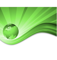 Environmental background with globe vector