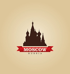 Moscow russia city symbol vector