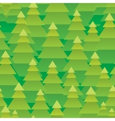 Abstract christmas trees forest seamless pattern vector